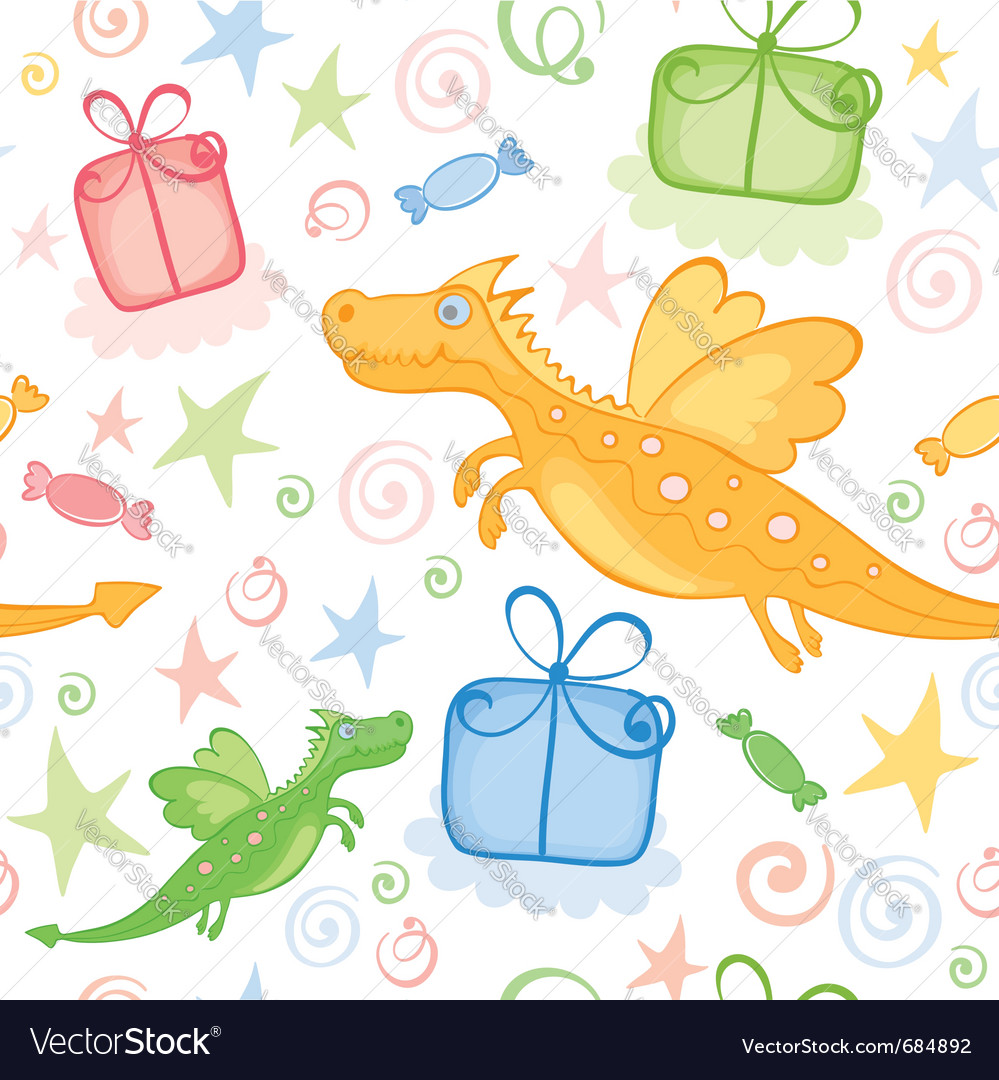 Funny wrapping with dragon vector | Price: 1 Credit (USD $1)