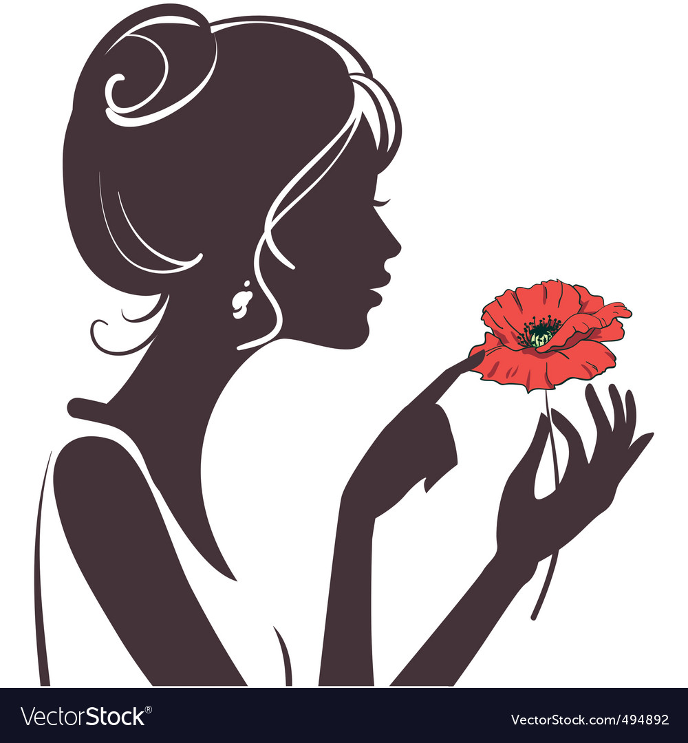 Girl silhouette vector | Price: 1 Credit (USD $1)