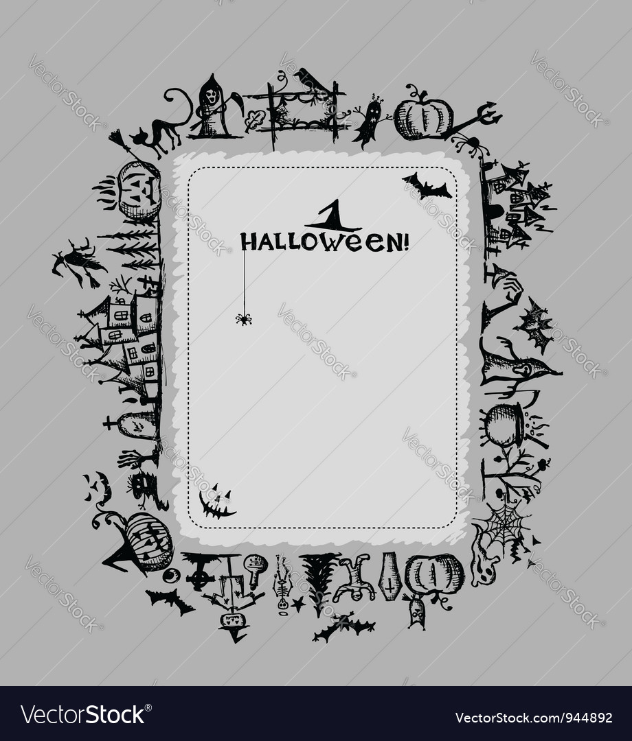 Halloween frame for your design vector | Price: 1 Credit (USD $1)