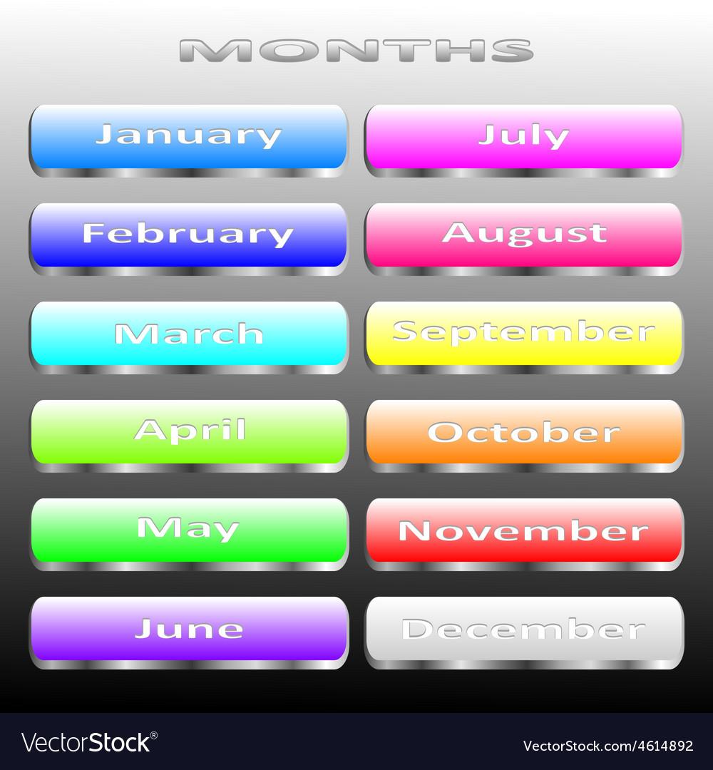 Months vector | Price: 1 Credit (USD $1)