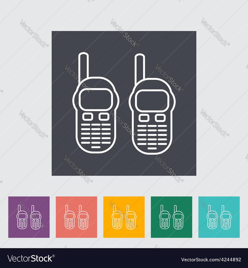 Portable radio vector | Price: 1 Credit (USD $1)