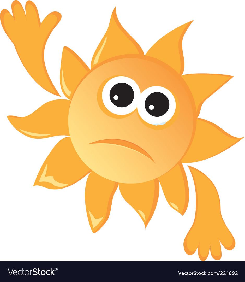 Sad sun vector | Price: 1 Credit (USD $1)