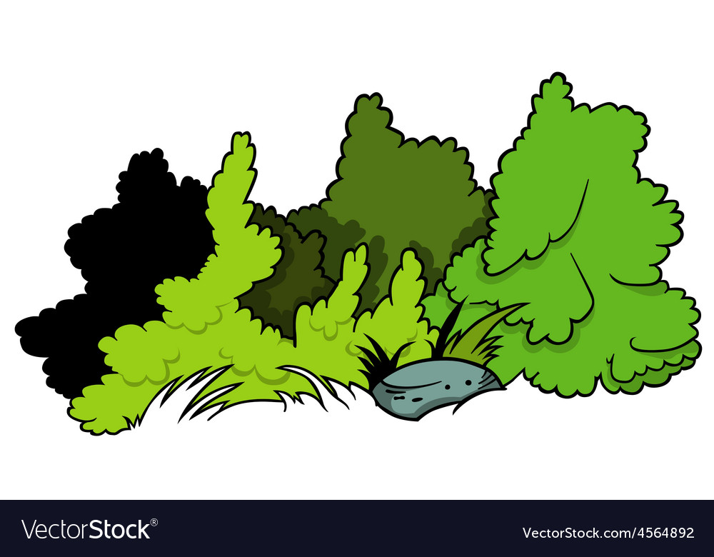 Shrubs and boulder vector | Price: 1 Credit (USD $1)
