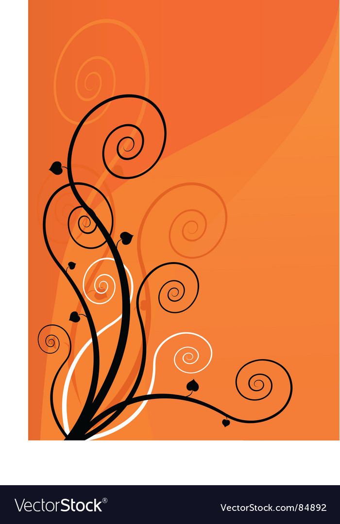 Spiral flowers vector | Price: 1 Credit (USD $1)