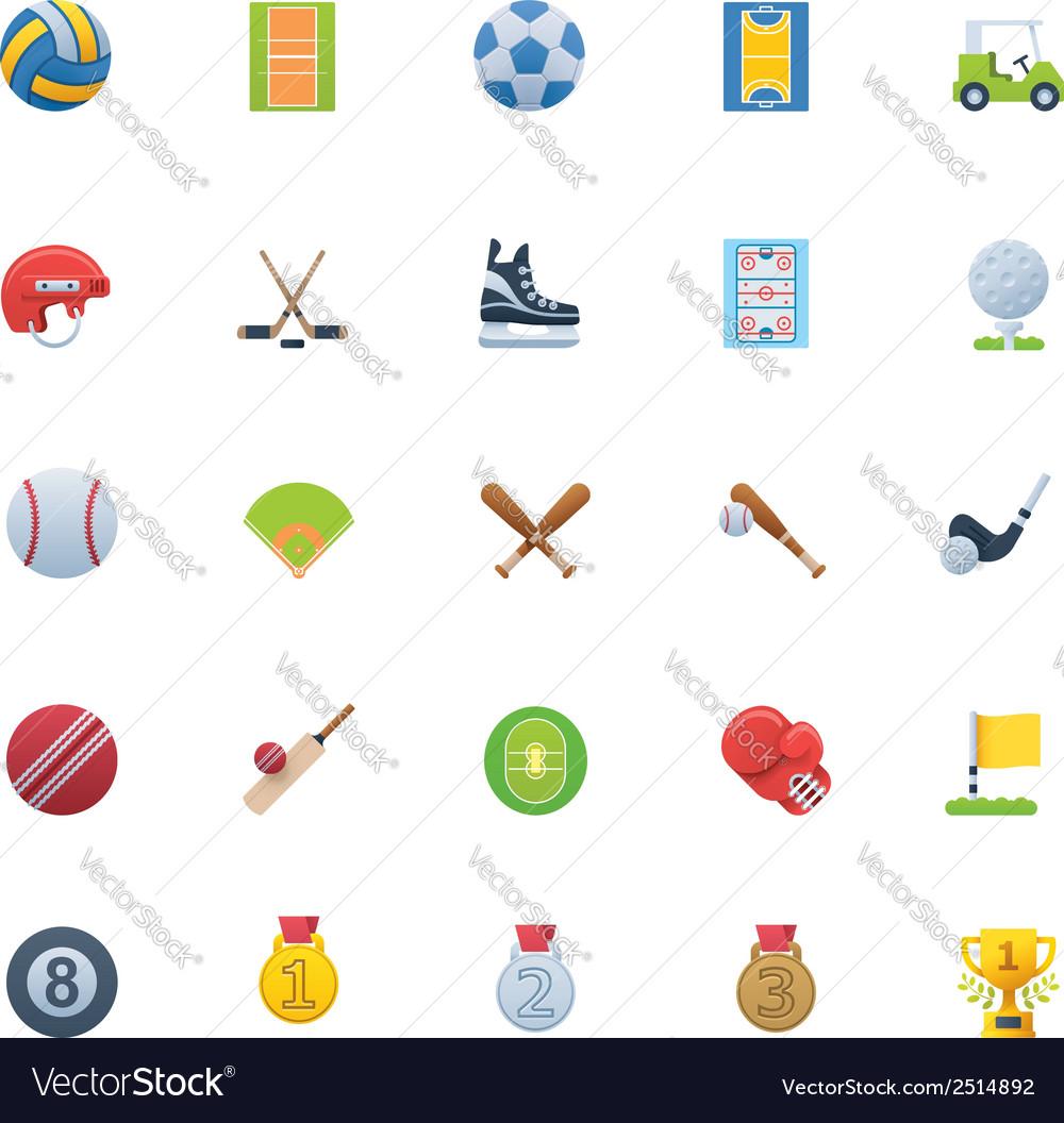 Sport icon set vector | Price: 1 Credit (USD $1)