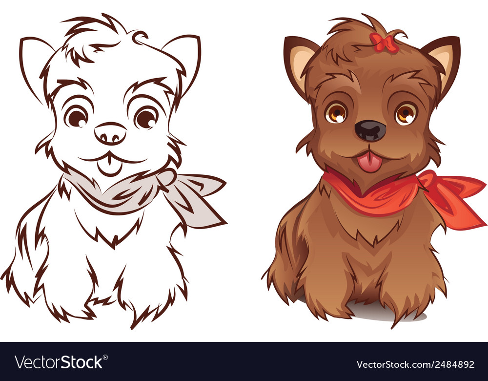 Yorkie vector | Price: 3 Credit (USD $3)