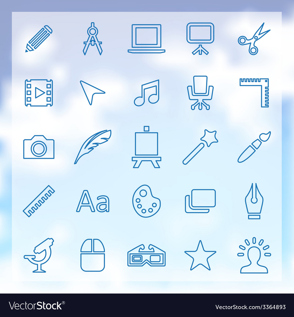 25 art design icons set vector | Price: 1 Credit (USD $1)