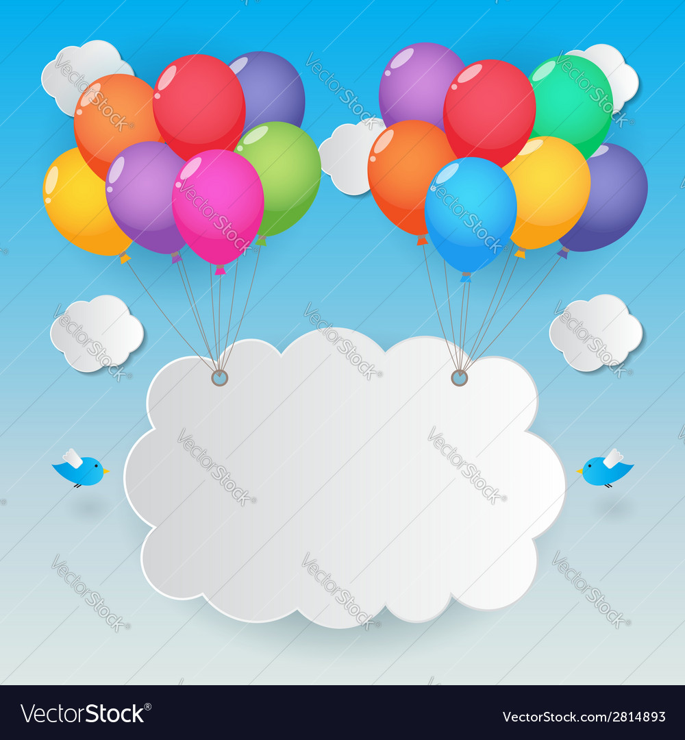 Balloons sky background vector | Price: 1 Credit (USD $1)