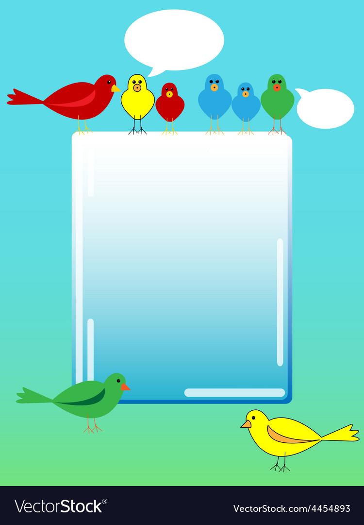 Bird advertisement vector   Price: 1 Credit (USD $1)