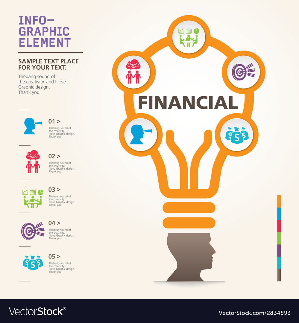 Bulb icon with idea concept info graphic vector   Price: 1 Credit (USD $1)
