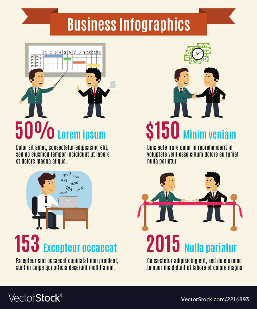 Business infographic set vector | Price: 1 Credit (USD $1)