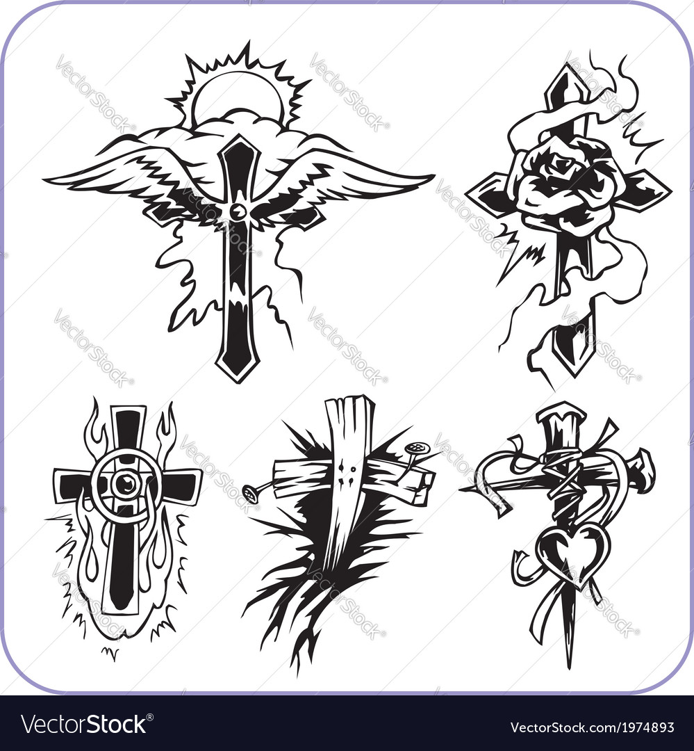 Christian symbols - vector | Price: 1 Credit (USD $1)