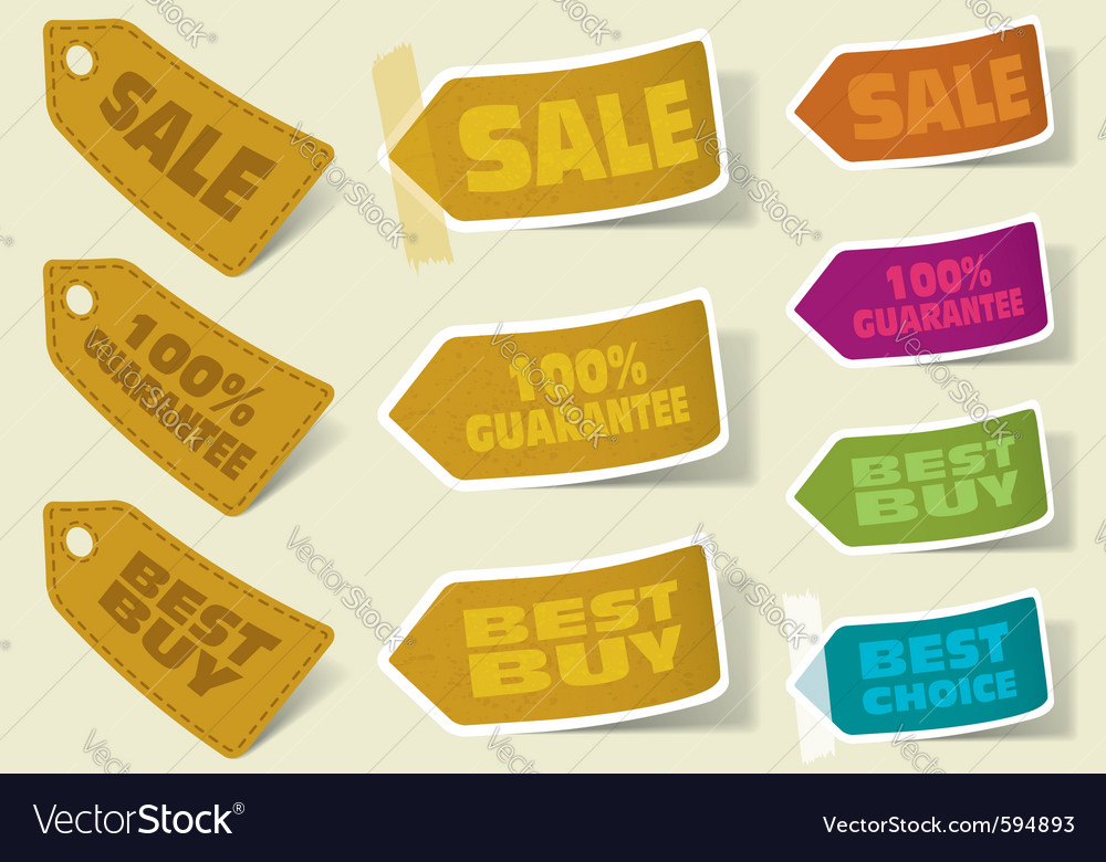 Collection of sale stickers vector | Price: 1 Credit (USD $1)