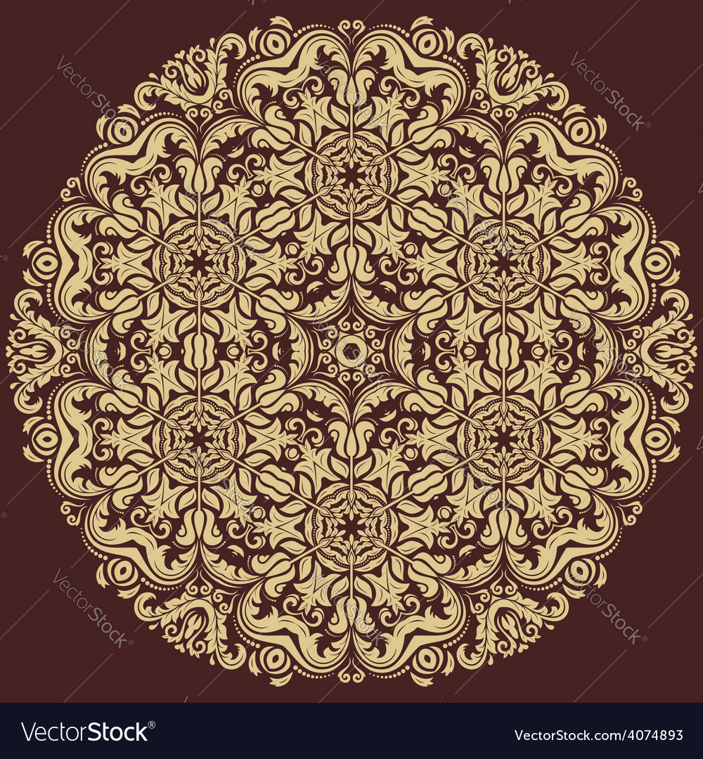 Damask orient pattern vector   Price: 1 Credit (USD $1)
