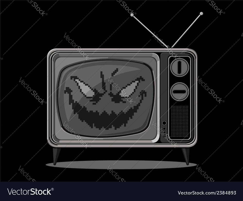 Evil television vector | Price: 1 Credit (USD $1)