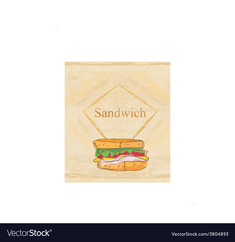 Grunge background with sandwich vector | Price: 1 Credit (USD $1)