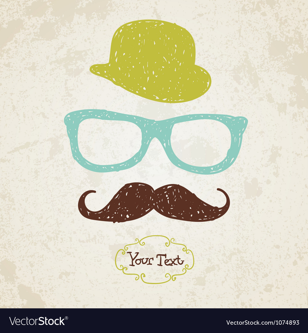 Hipster doodle vintage hand-drawn man vector | Price: 1 Credit (USD $1)
