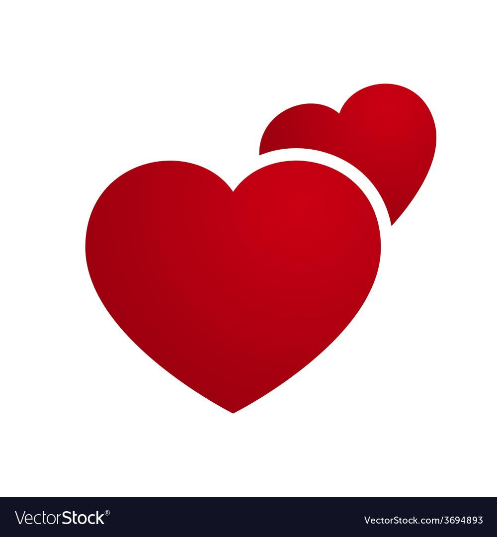 Love heart couple vector | Price: 1 Credit (USD $1)