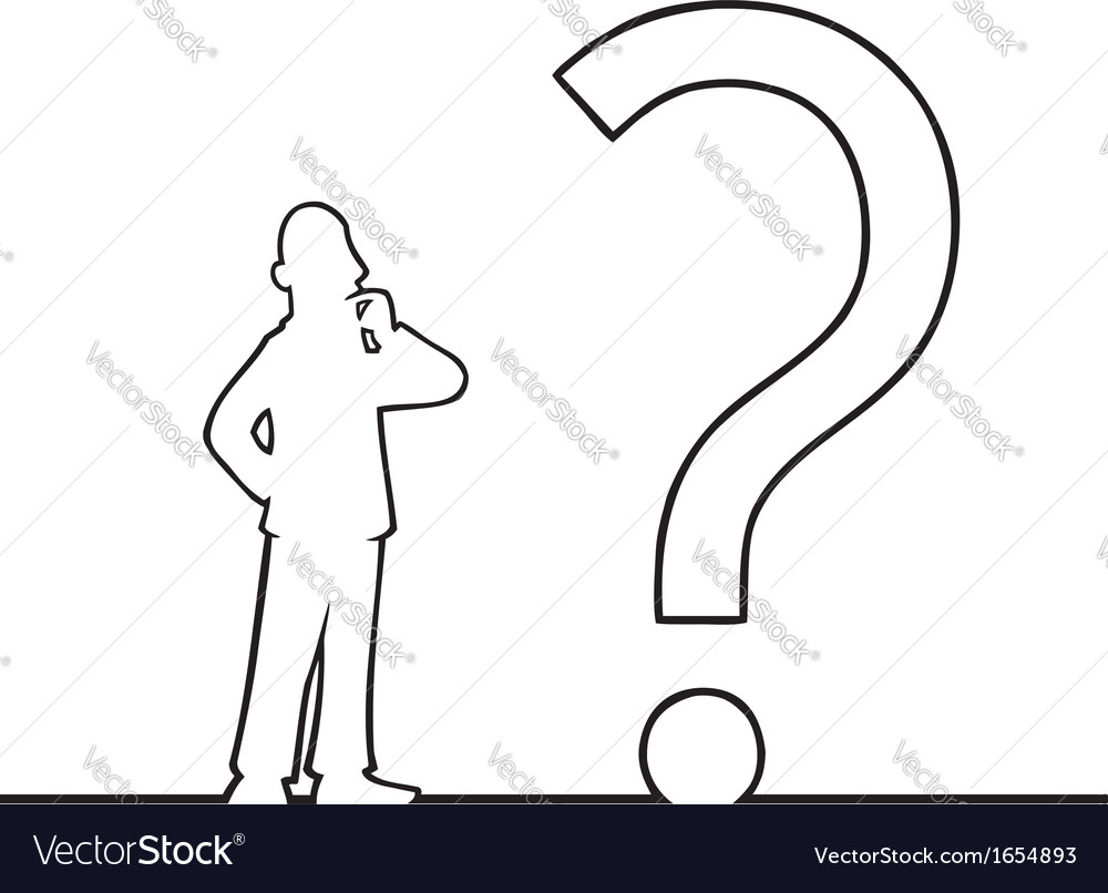 Man with big question mark vector | Price: 1 Credit (USD $1)