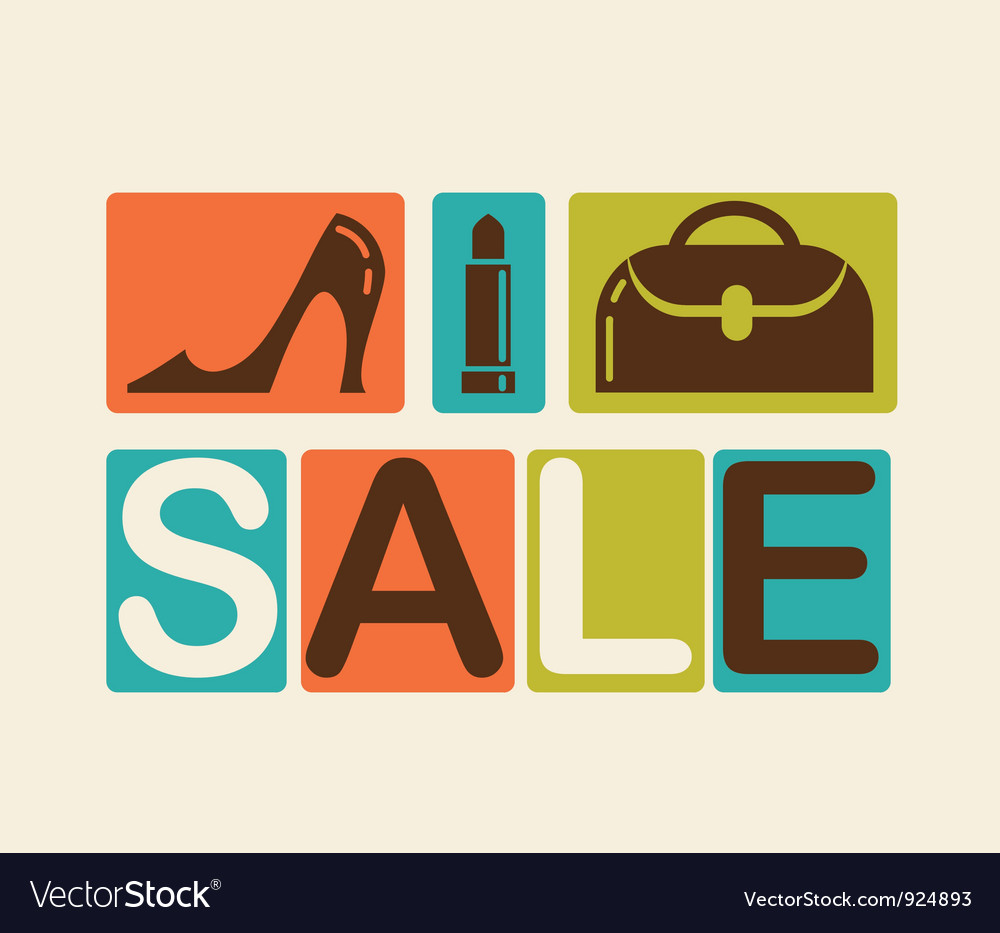Sale and shopping background vector   Price: 1 Credit (USD $1)
