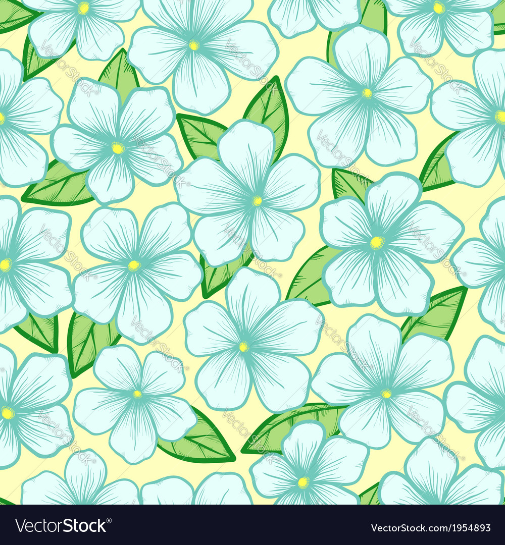 Seamless background with blossoming tree branches vector | Price: 1 Credit (USD $1)