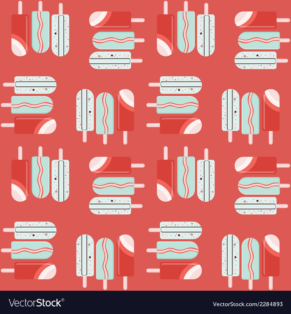 Seamless pattern with ice cream vector | Price: 1 Credit (USD $1)