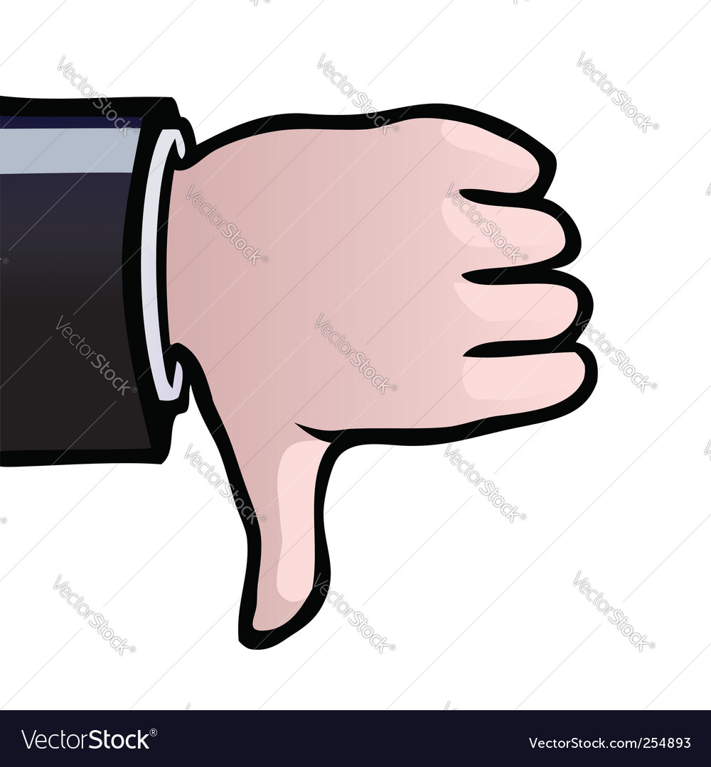 Thumbs down vector   Price: 1 Credit (USD $1)