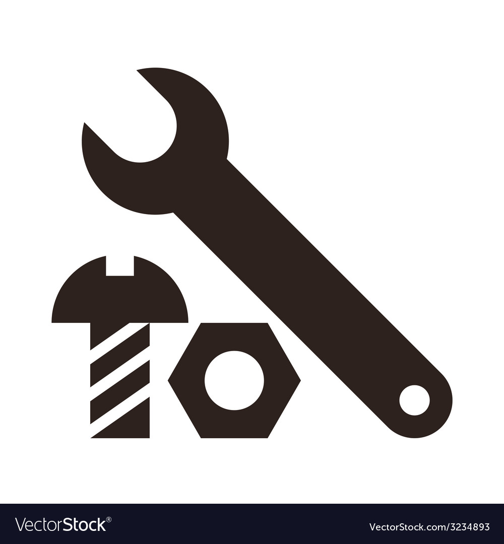 Wrench nut and bolt icon vector | Price: 1 Credit (USD $1)
