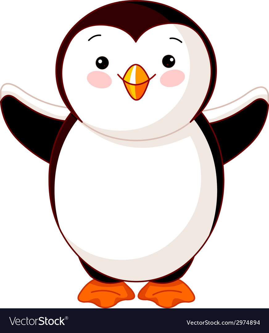 Cute baby penguin vector | Price: 1 Credit (USD $1)