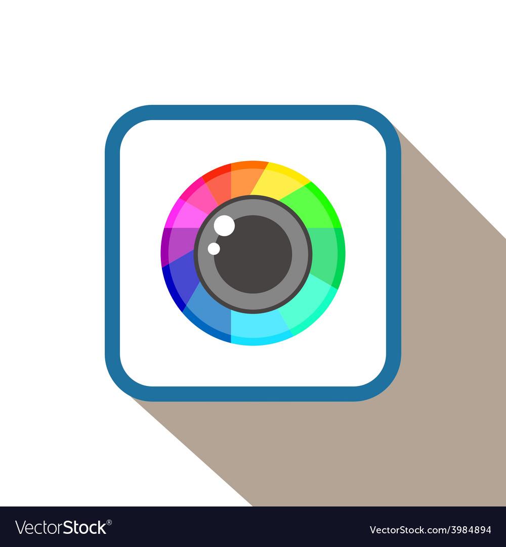 Flat photo camera icon vector | Price: 1 Credit (USD $1)