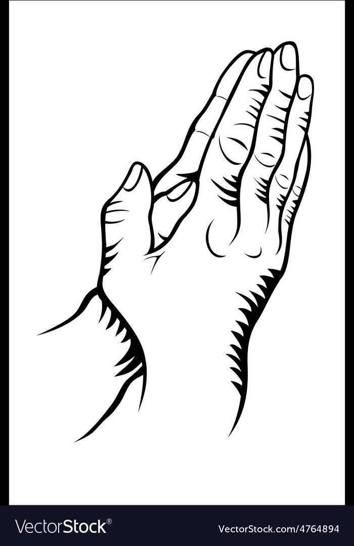 Hand praying vector | Price: 1 Credit (USD $1)