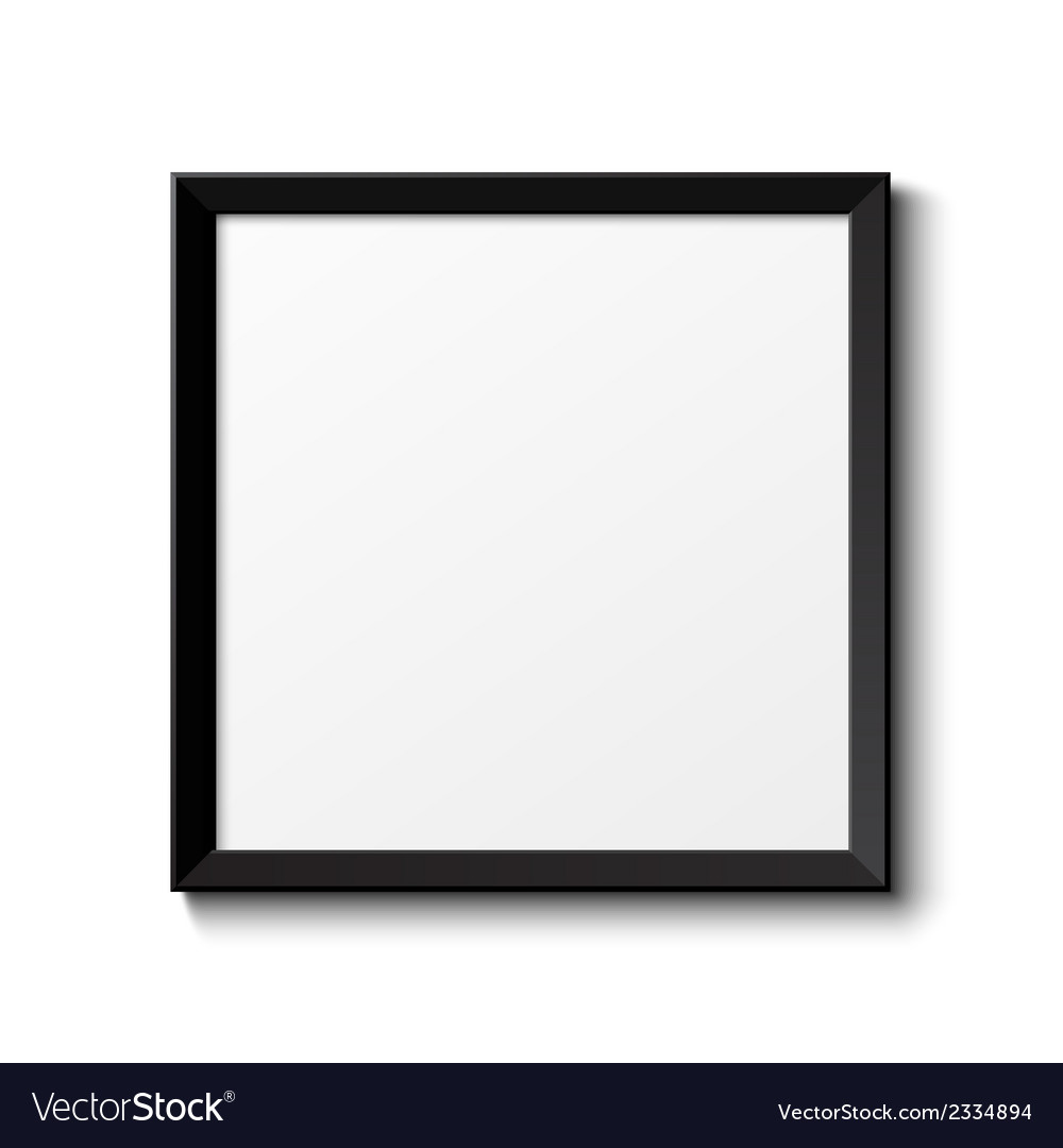 Realistic picture frame isolated on white vector | Price: 1 Credit (USD $1)