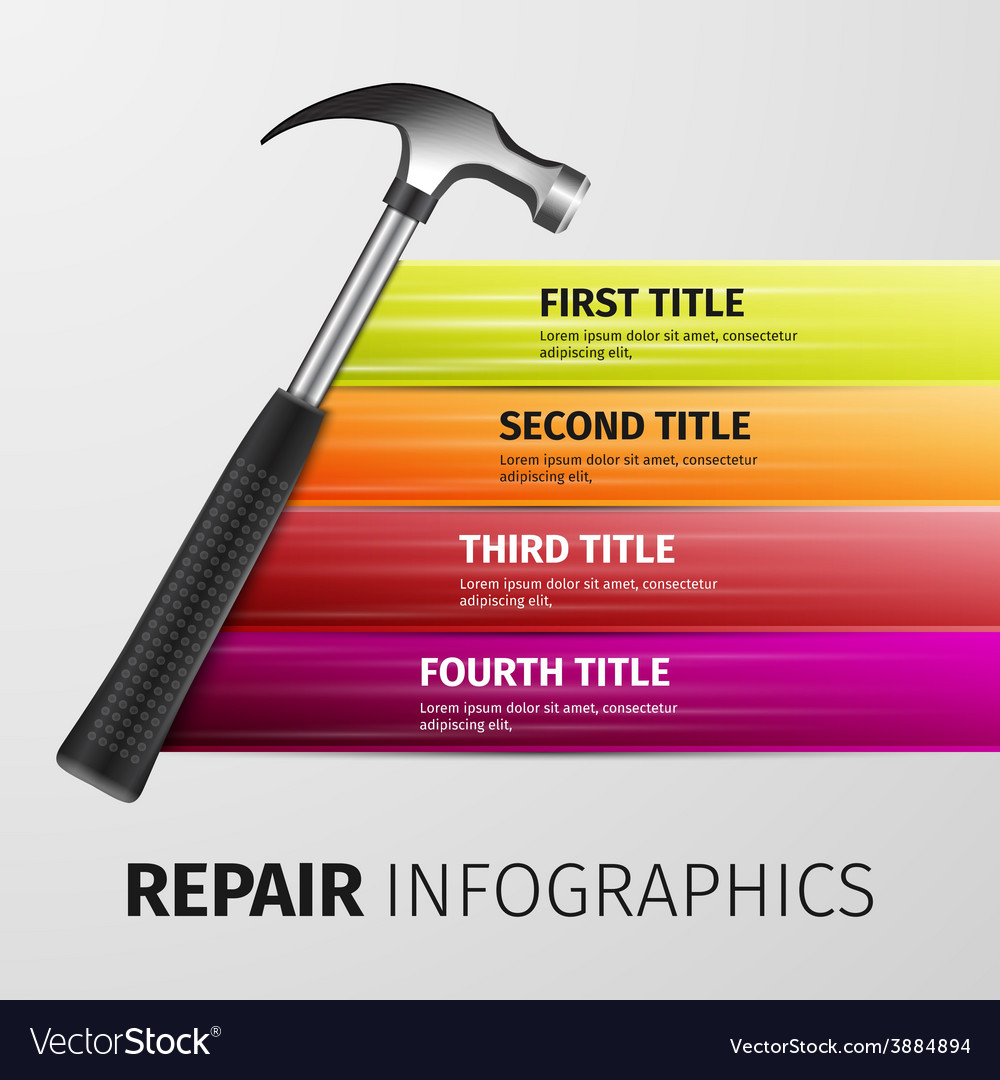 Repair infographics vector | Price: 1 Credit (USD $1)