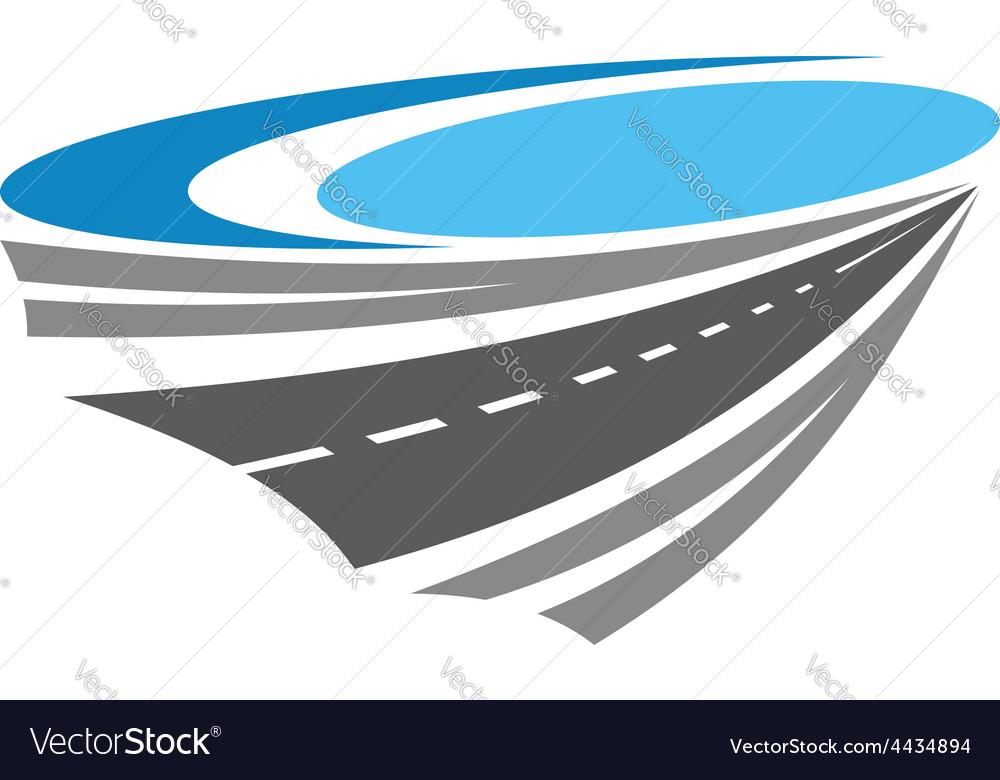 Road or highway color icon vector | Price: 1 Credit (USD $1)