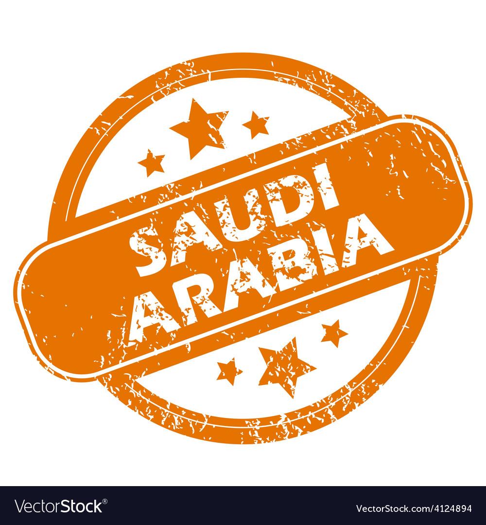 Saudi arabia grunge icon vector | Price: 1 Credit (USD $1)