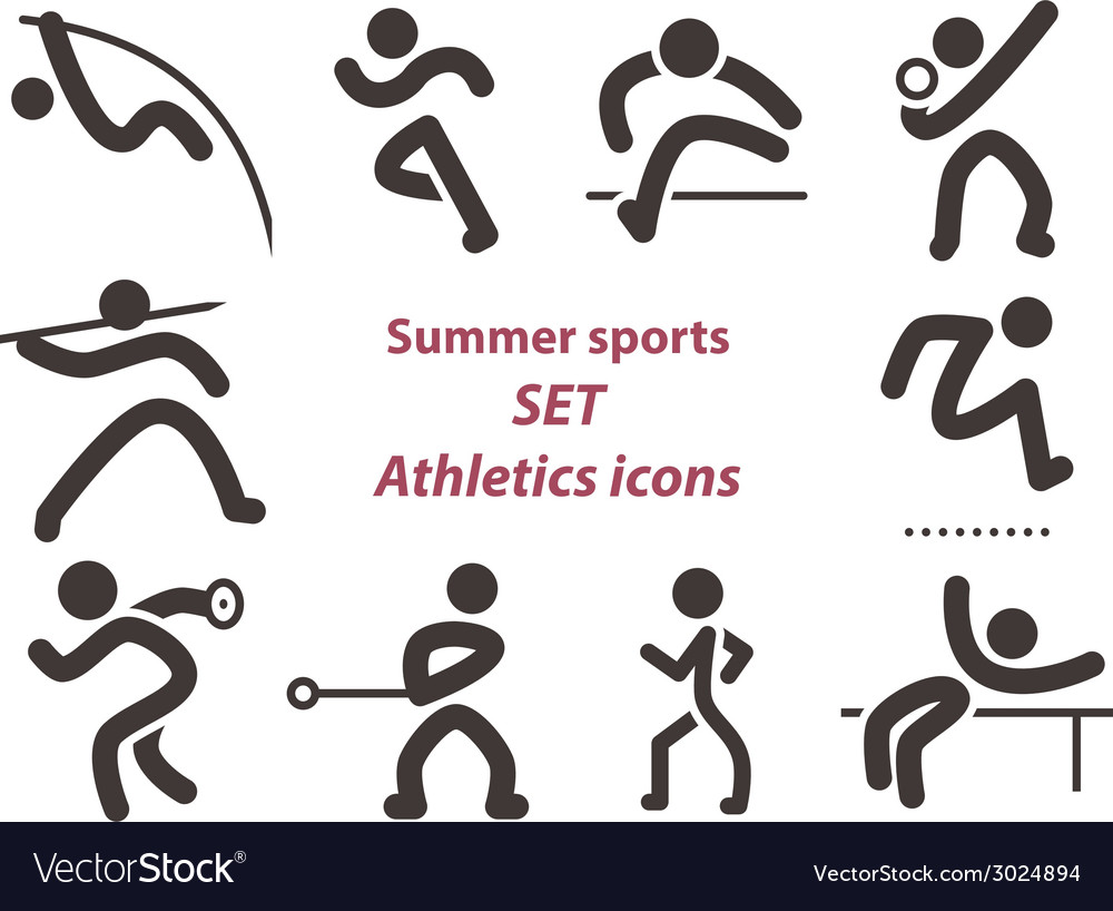 Set of athletics icons vector | Price: 1 Credit (USD $1)