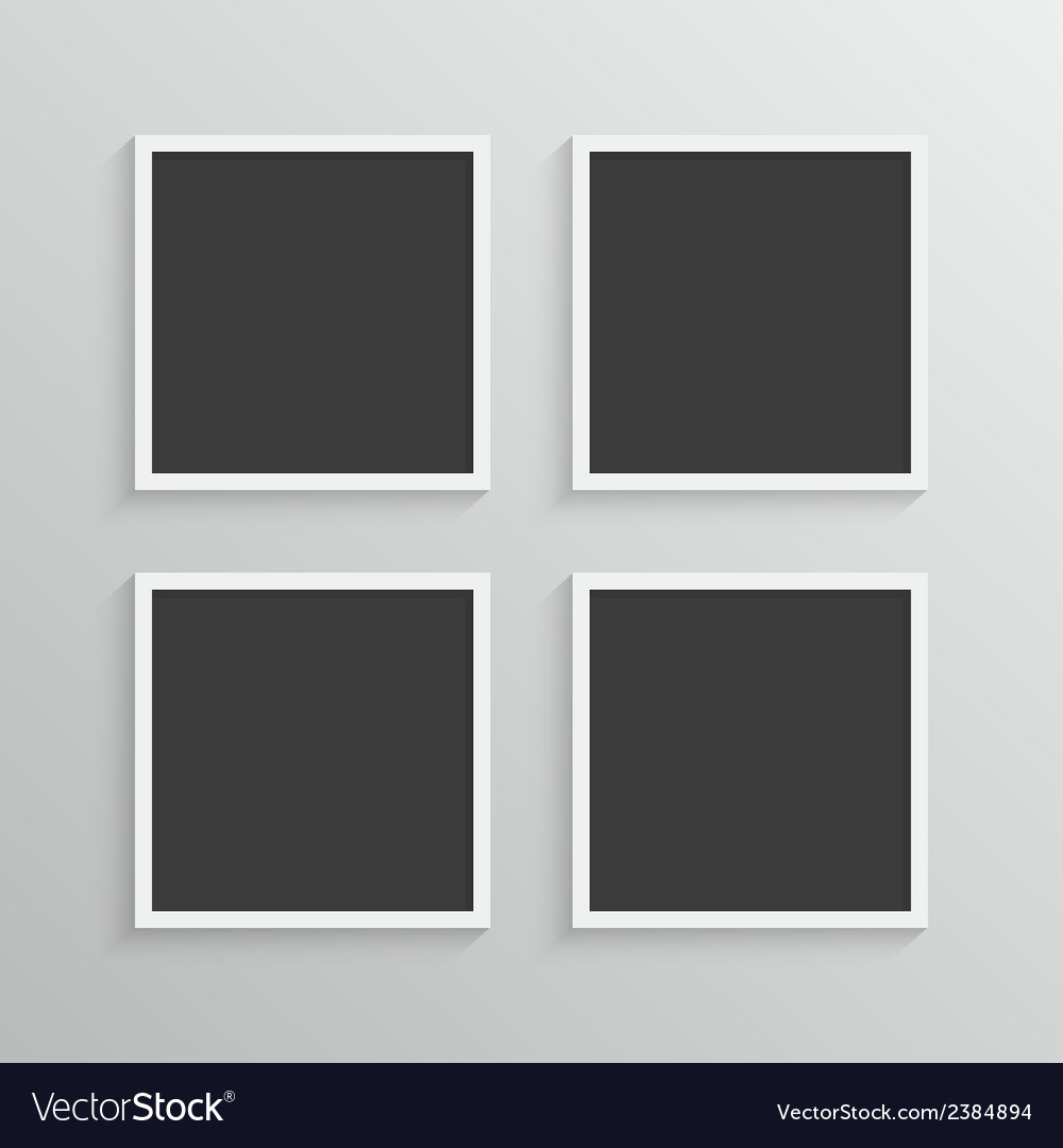Set of frames with a simple design vector | Price: 1 Credit (USD $1)