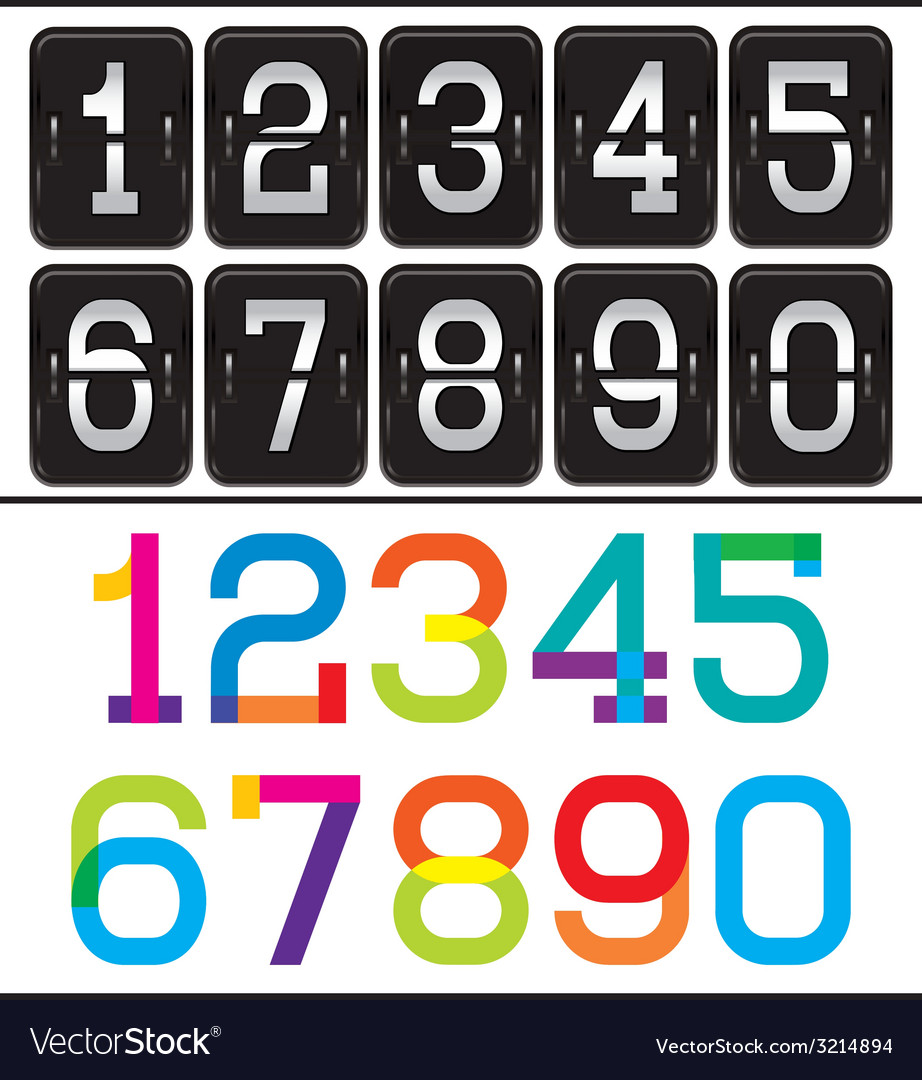 Set of two sets of numbers for advertising and web vector | Price: 1 Credit (USD $1)