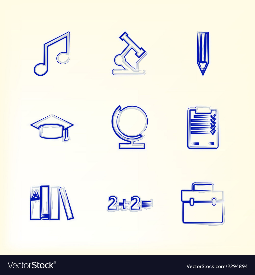 Sketch with icons for education vector | Price: 1 Credit (USD $1)