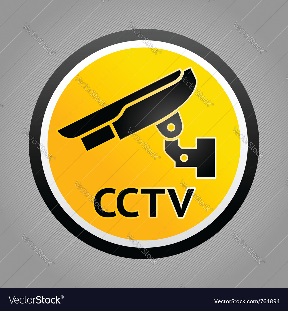 Surveillance warning symbols vector | Price: 1 Credit (USD $1)