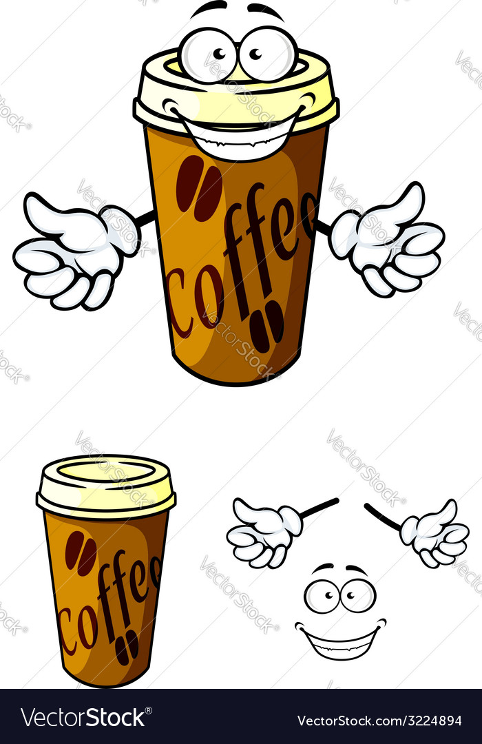 Takeaway cup of coffee vector | Price: 1 Credit (USD $1)