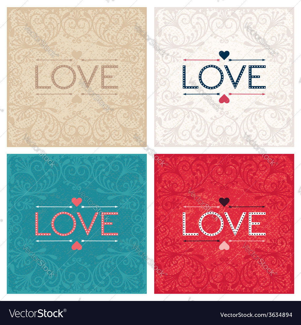 Vintage lettering design word love vector   Price: 1 Credit (USD $1)