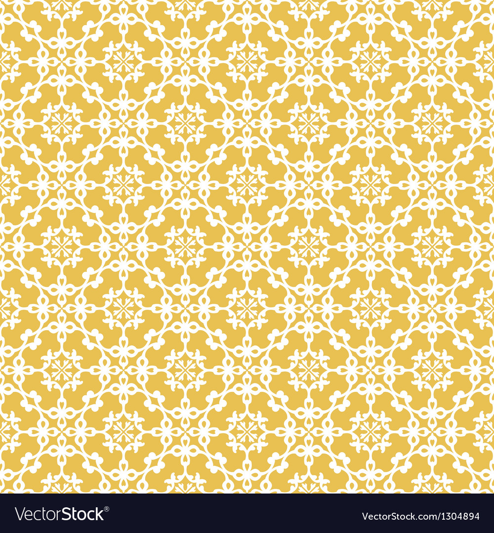Yellow colors asian damask pattern vector | Price: 1 Credit (USD $1)