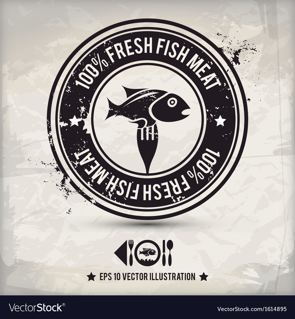 Alternative fish stamp vector | Price: 1 Credit (USD $1)