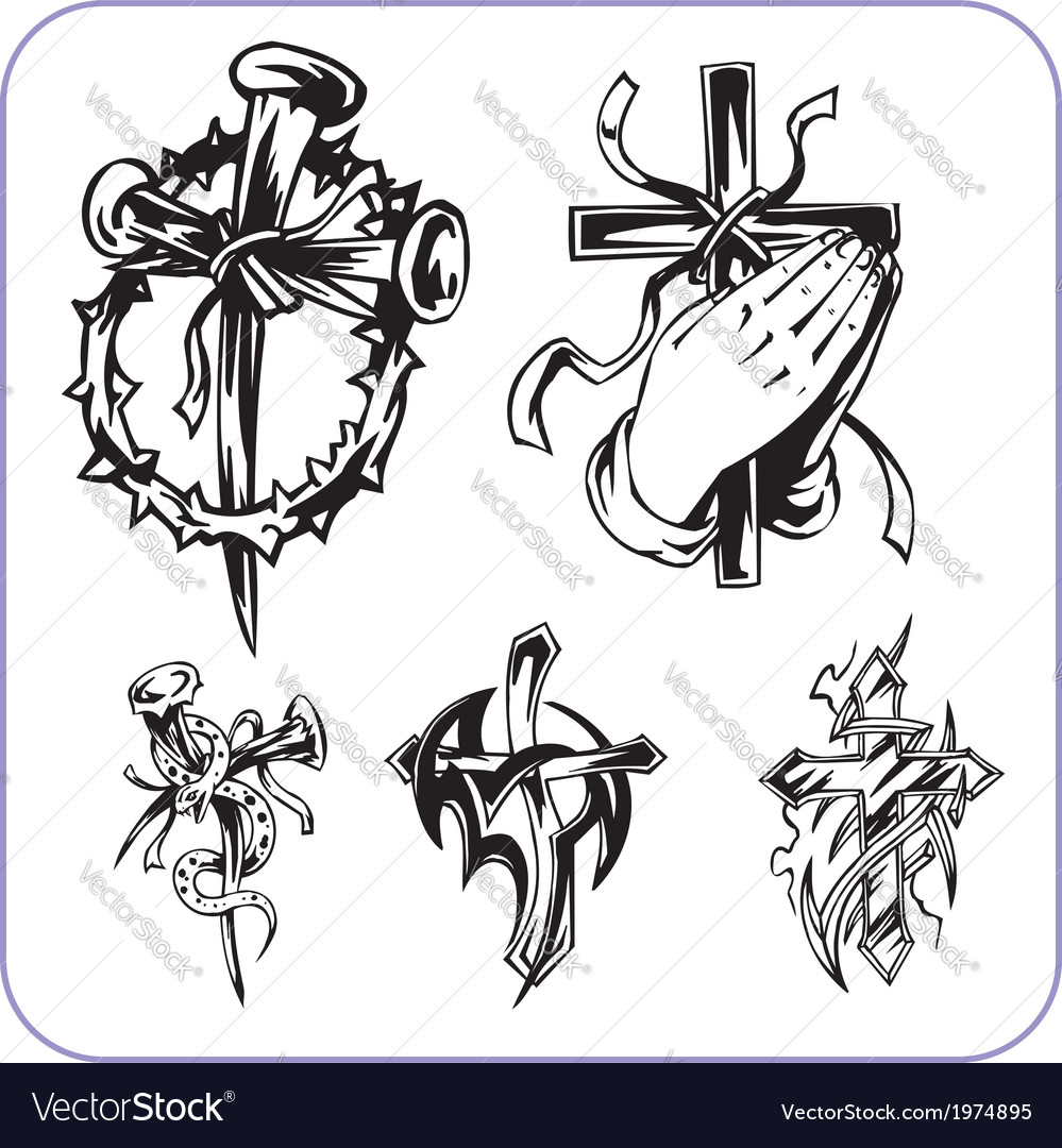 Christian symbols - vector | Price: 1 Credit (USD $1)