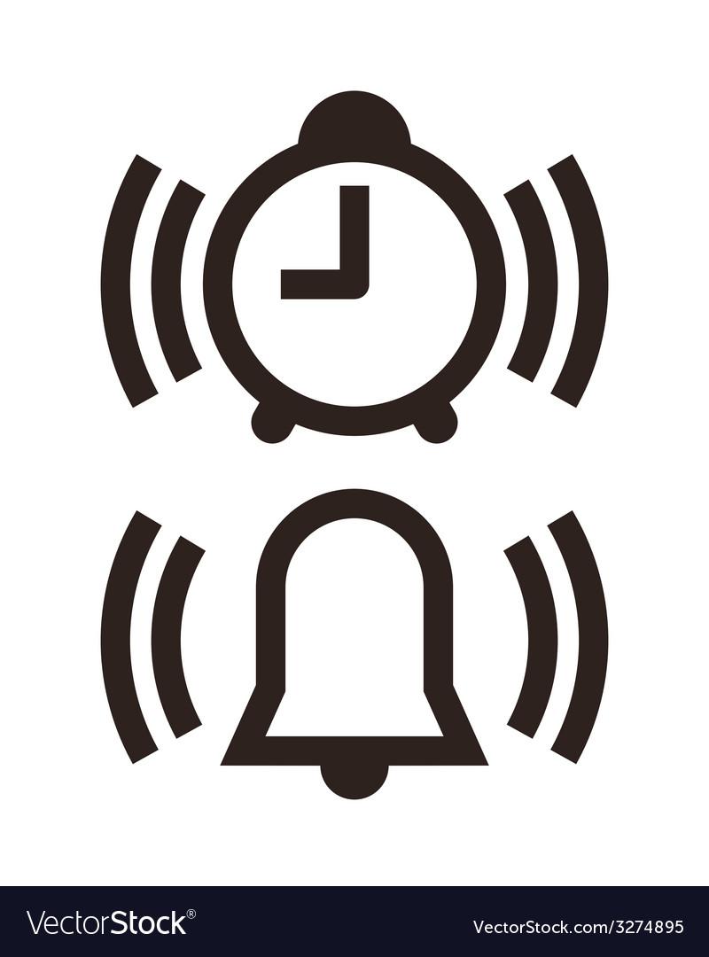 Clock and alarm icon vector   Price: 1 Credit (USD $1)
