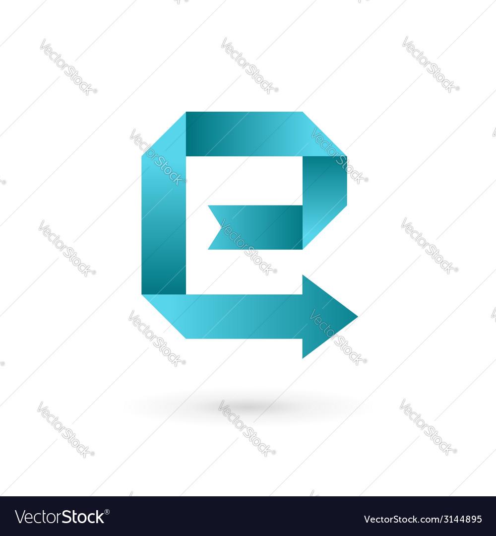 Letter e arrow ribbon logo icon design template vector | Price: 1 Credit (USD $1)