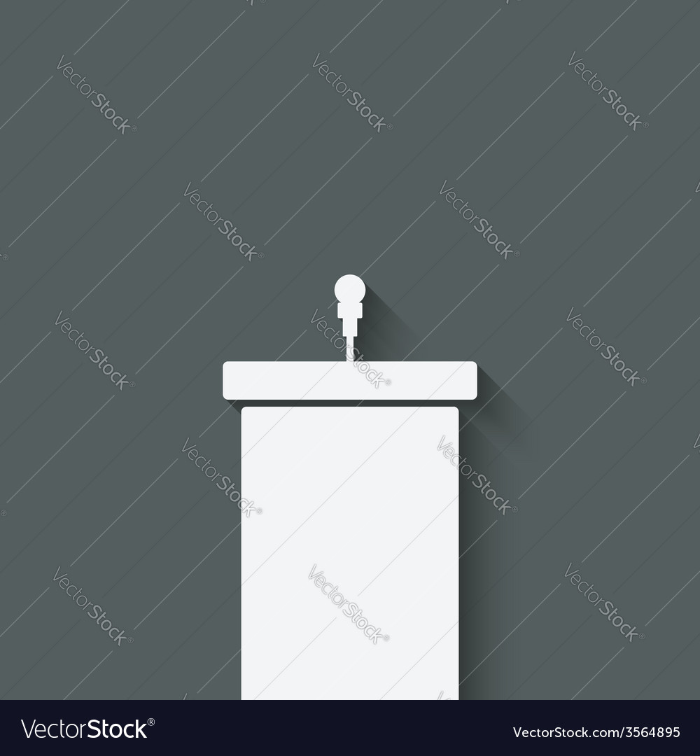 Podium with microphone vector
