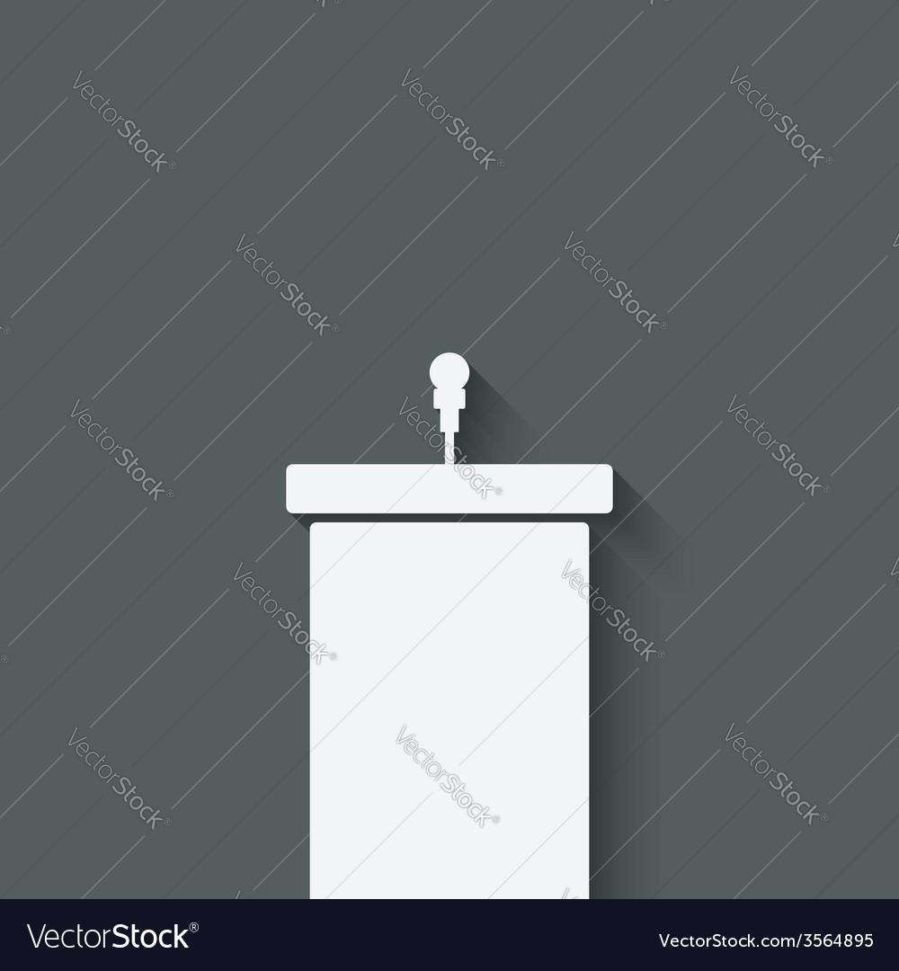 Podium with microphone vector | Price: 1 Credit (USD $1)