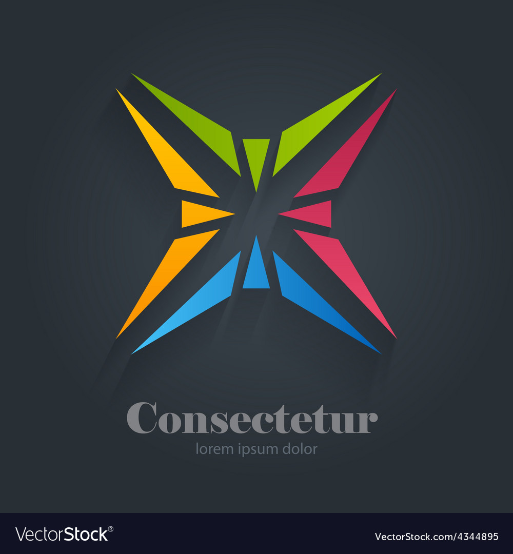 Star abstract colorful logo design template vector | Price: 1 Credit (USD $1)